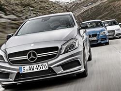 Audi S3 vs BMW M135i vs Mercedes A45 AMG