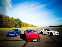 Ferrari F12 Berlinetta, Mercedes SLS AMG e Porsche 911 Turbo S