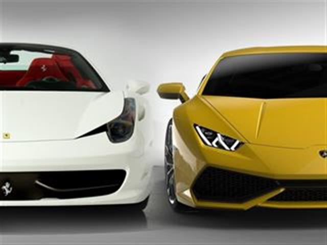 ferrari 458 vs lamborghini hurac n. Black Bedroom Furniture Sets. Home Design Ideas