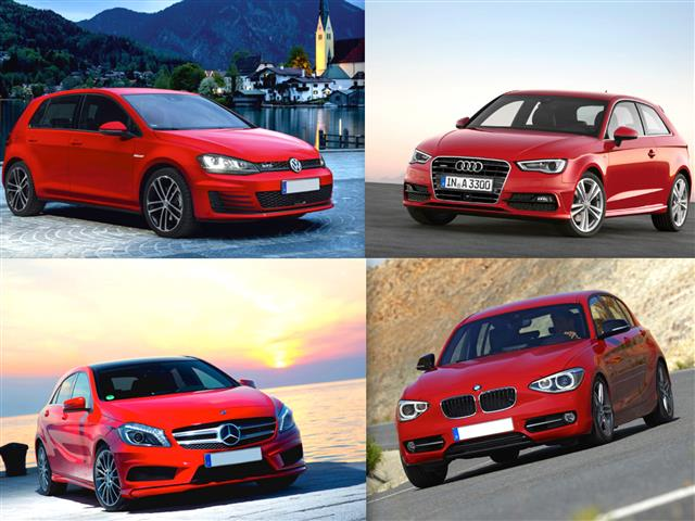 audi a3 vs bmw serie 1 vs mercedes classe a vs volkswagen golf. Black Bedroom Furniture Sets. Home Design Ideas